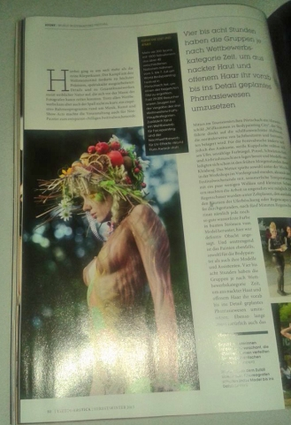 Tatoomagazine, Julie as Bodyartmodel for Yvonne Zonnenberg