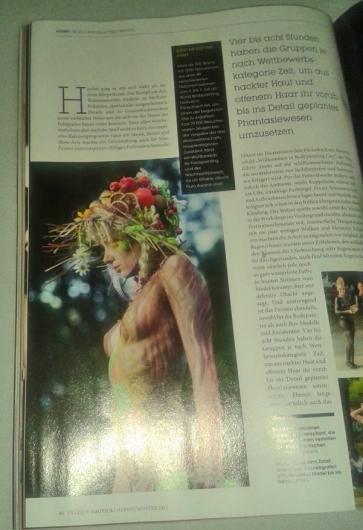 Tatoomagazine, Julie as Bodyartmodel for Yvonne Zonnenberg