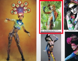 Photocatalogue WBF 2012, Julie as Bodyartmodel for Yvonne Zonnenberg
