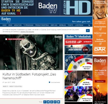 """2017-04-27 20_42_50-Kultur in Südbaden_ Fotoprojekt """"Das Narrenschiff"""" _ Baden TV"""