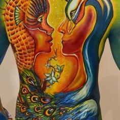 Renaissance Julie Boehm's back painting