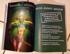 2015 'Bodypainting Adventures 2016' for www.heye-kalender.de