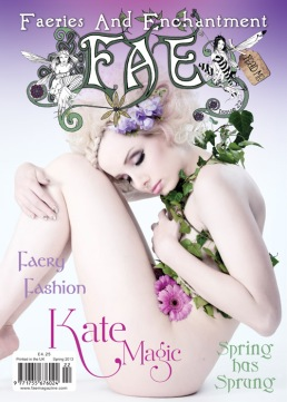 Julie on the cover on the FAE Magazine