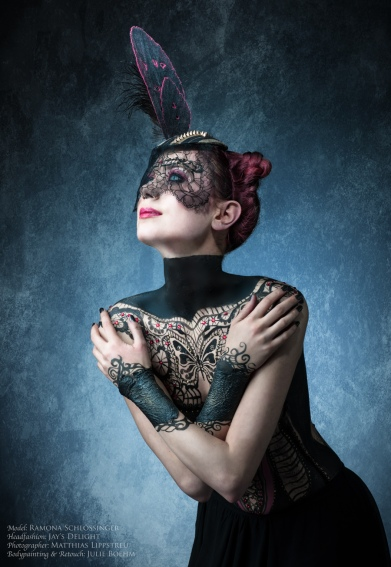 Moth Style Fashion Bodypainting