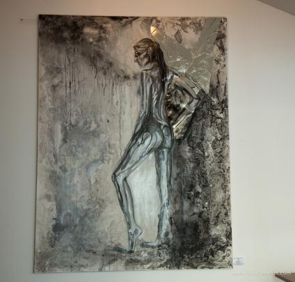 oil/mixed media, 150 x 200 cm