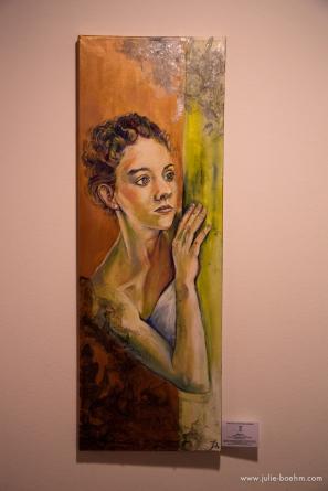 oil, acrylic, mixed media / 100 x 35 cm