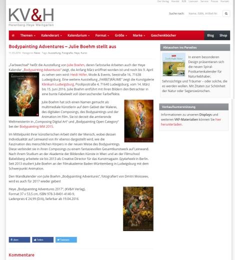 Heye Verlag Ausstellungen 2016