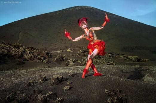 Model: Rebecca C., Foto Bert Kubik, Bodypainting Julie Boehm