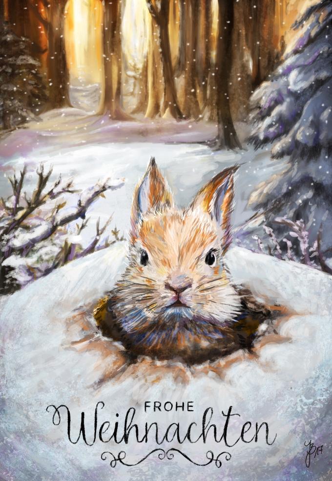 Kaninchen-Weihnachtspost