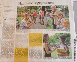 18.06.2018 Pforzheimer Zeitung Schloßerlebnistag LifeBodypainting