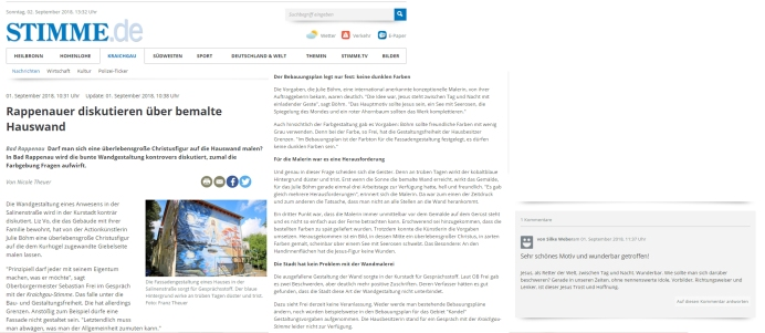 "01.09.18 Wandmalerei ""Stimme.de"""