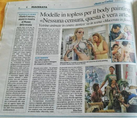 Italienische Presse April 2018 - Italian Bodypainting Award -Best Model Award