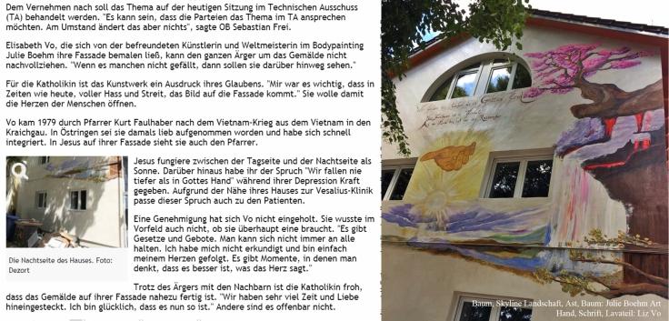 21.06.18 Wandmalerei , Jesus , Bad Rappenau