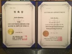 Judge Appointment Daegu Int. Bodypaintingfestival 2018