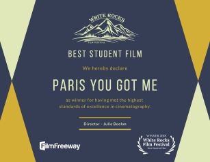 """Best Student Film"" - White Rocks Film Festival"