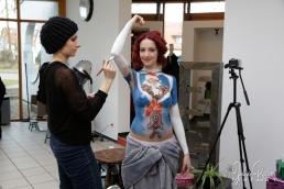 Weihnachten Bodypainting Julie Boehm ART Santa Claudia-1
